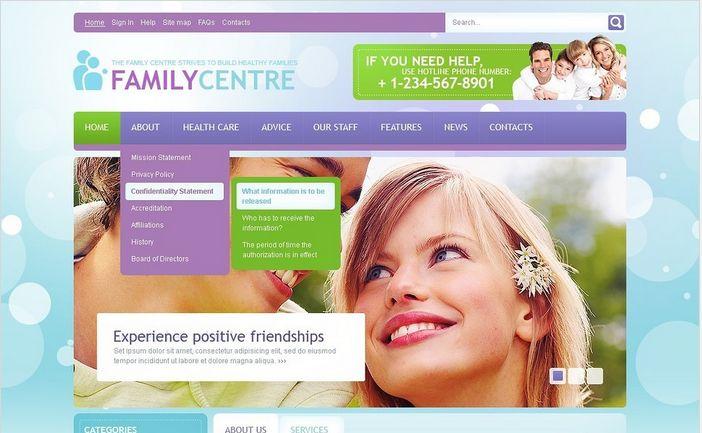 Family Center Joomla Templates by Mercury