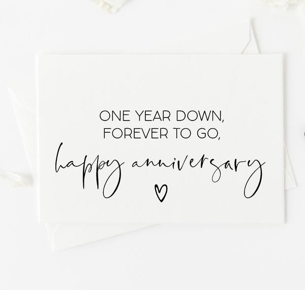 Cute Happy 1st Anniversary First Year Anniversary Card For Wife Anniversary Message For Boyfriend Anniversary Quotes Funny Anniversary Quotes For Wife