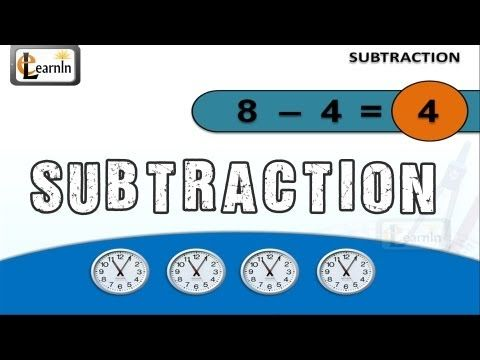 ▶ Subtraction for grade 1 | Subtraction for children | Elementary math for kids playlist | elearnin - YouTube
