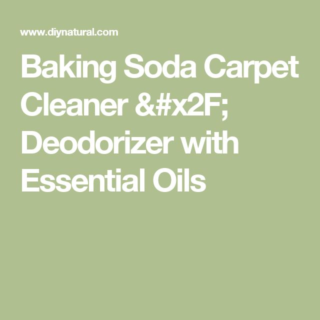 Baking Soda Carpet Cleaner / Deodorizer with Essential Oils