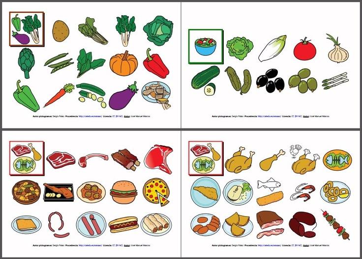 Materiales vocabulario b sico comidas y bebidas cuaderno de comunicaci n que contiene un - Alimentos en ingles vocabulario ...