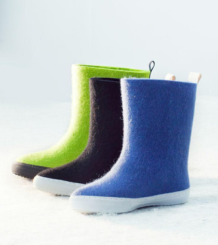 Aki Choklat for Lahtiset, felt boots, ACFL-12-5, http://www.lahtiset.fi/fi/mallisto/aki-choklat-for-lahtiset.html #akichoklat #lahtiset #felt #boots