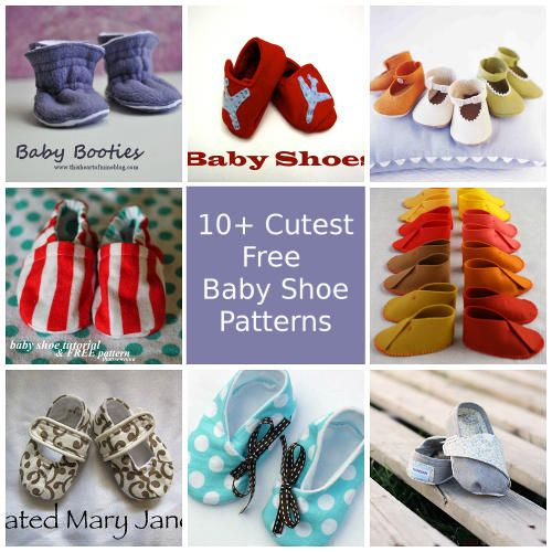 Aren't tiny baby shoes the cutest things? With these 10 free baby shoe patterns you can make them yourself, for your little one or as a baby gift!