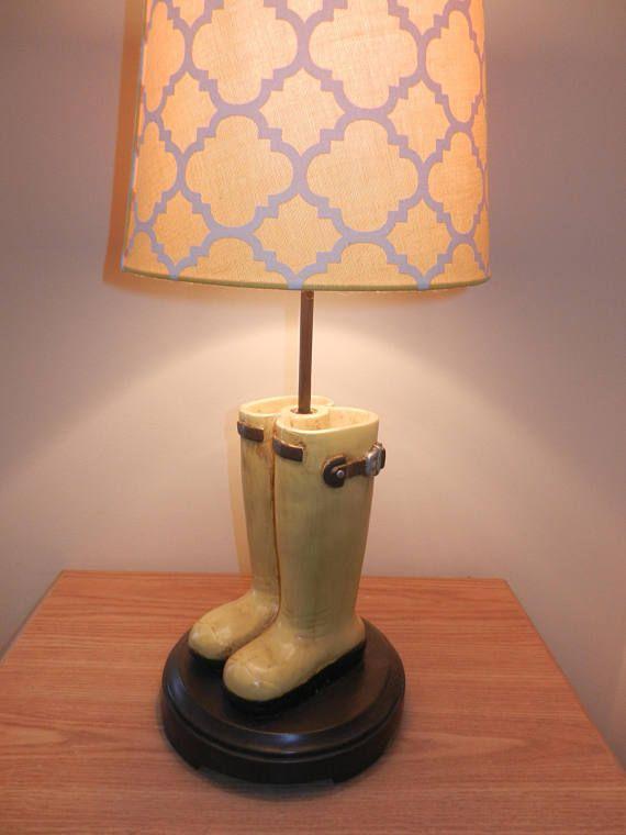 Night Light Kids Room Lamp Yellow Boot Lamp Etsy Lamp Room Lamp Night Light Kids