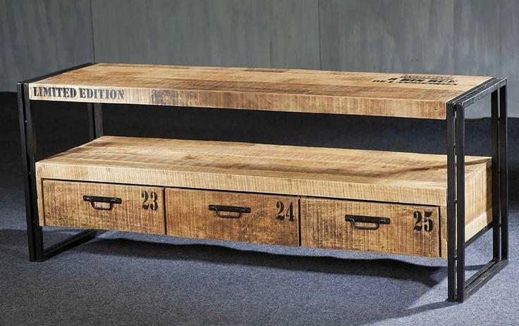 meuble tv caisse vins | déco | pinterest | industrial furniture