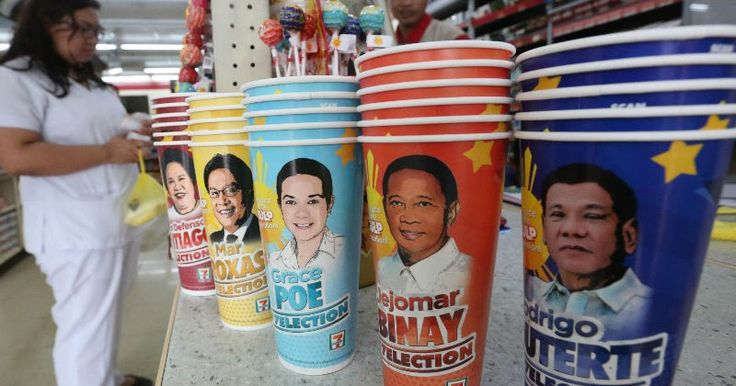 "The Philippine presidential and vice-presidential election is yet to come and many are excited to know who will be the next leaders of the country. The Philippine Seven Corporations management conducted their own survey through the soda cup which also known as ""Slurpee."""