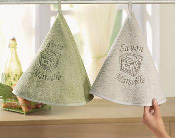 essuie-mains rond savon de marseille - Becquet