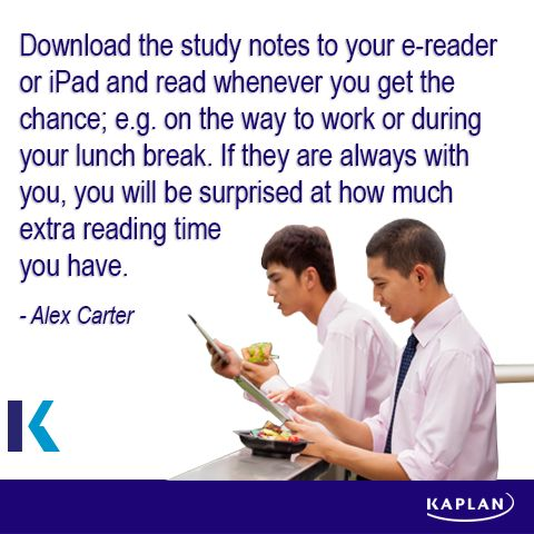 Study tip - Learn anywhere, any time.