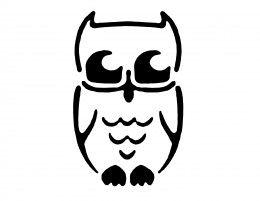 Owl Pumpkin Carving Stencil