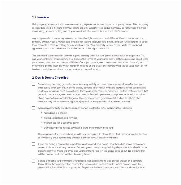 General Contractor Business Plan Template Awesome Contractor