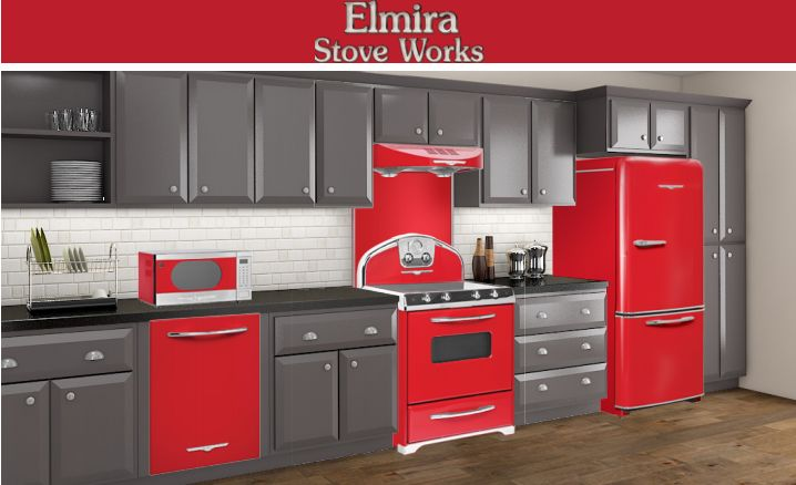 17 best images about timeless retro kitchens by elmira on - Red kitchen appliances ...