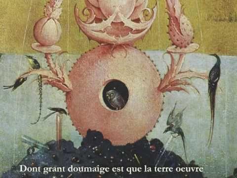 """""""Déploration sur la mort d'Ockeghem """" Josquin des Près"""