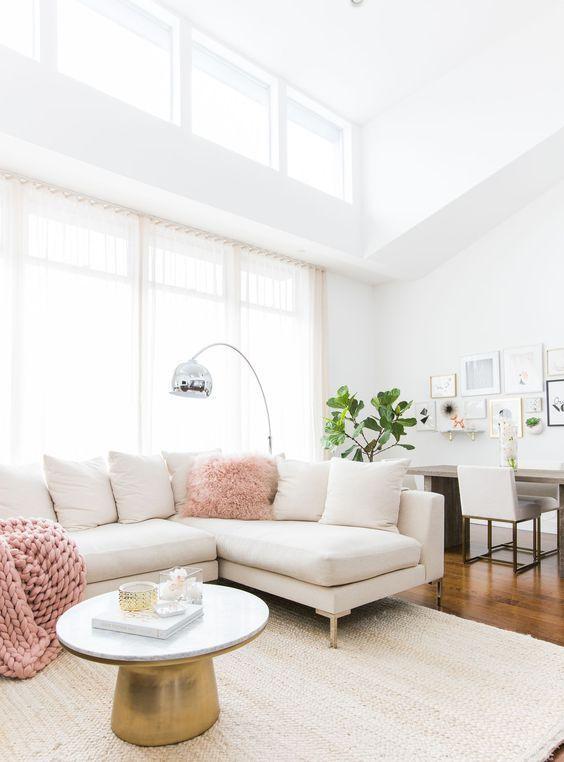 Beyaz Köşe Koltuk ile 11 Farklı Salon Dekorasyon Fikri – dekorolog