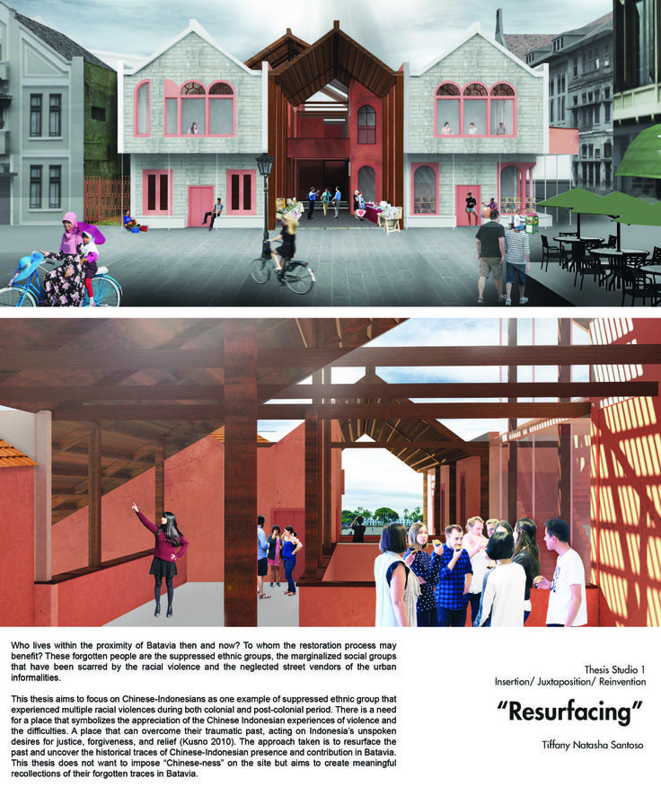 MSD M.Arch S2/16 - Tiffany Natasha Santoso. Studio Thesis 01 - Insertion/Juxtaposition/Reinvention. Tutor: Dr Amanda Achmadi.