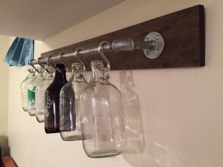 Rustic Industrial Growler Rack/Display – PERFECT Gift for Craft Beer Lovers!! Boyfriends, Husbands, Fathers, etc. by KirsDesigns on Etsy https://www.etsy.com/listing/265548769/rustic-industrial-growler-rackdisplay