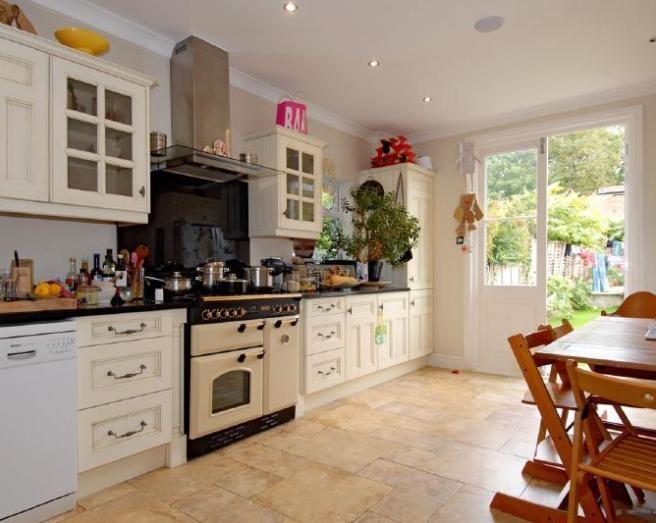 White Kitchen And Range Cooker