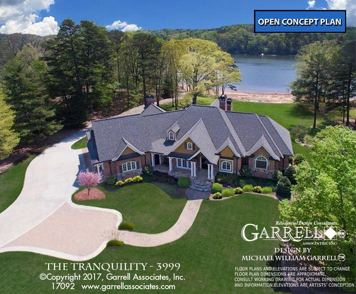 Tranquility 17092 3999 Garrell Associates Inc Lake House Plans Craftsman Style House Plans Craftsman House Plans