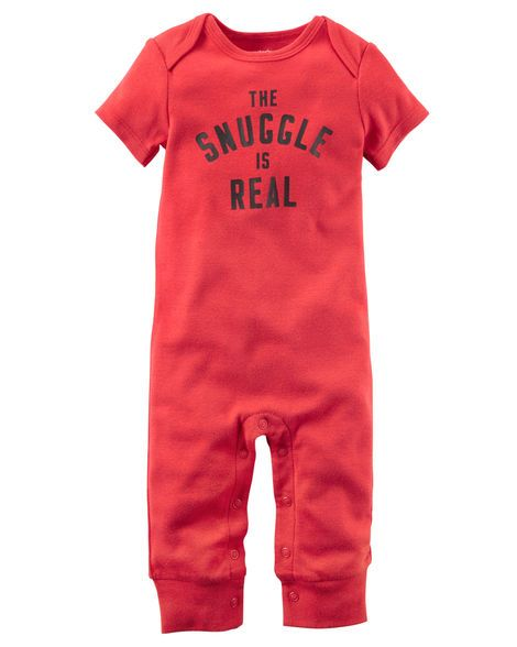 The Snuggle Is Real Jumpsuit Carters Baby Boys Snuggles Baby Boy Outfits
