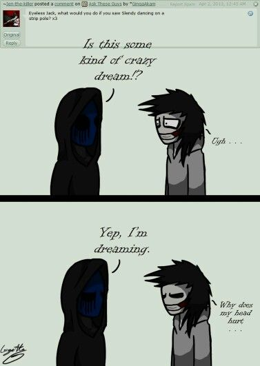Eyeless Jack and Jeff #Questions | CP = Creepy Pasta | Pinterest