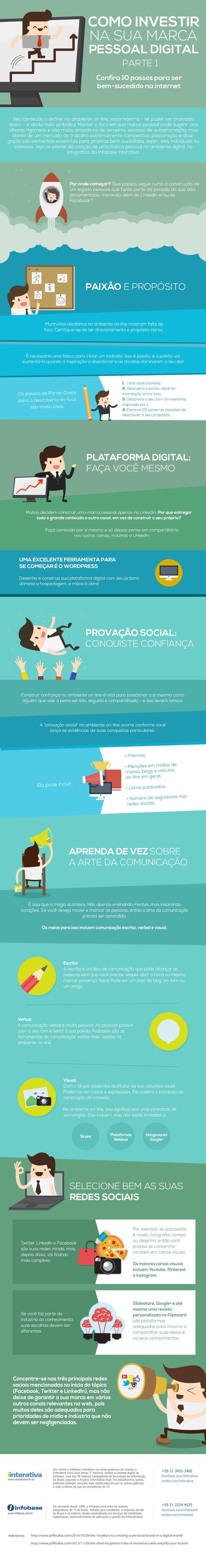 Como investir na sua marca pessoal digital – parte 1 http://www.iinterativa.com.br/infografico-como-investir-na-sua-marca-pessoal-digital-parte-1/
