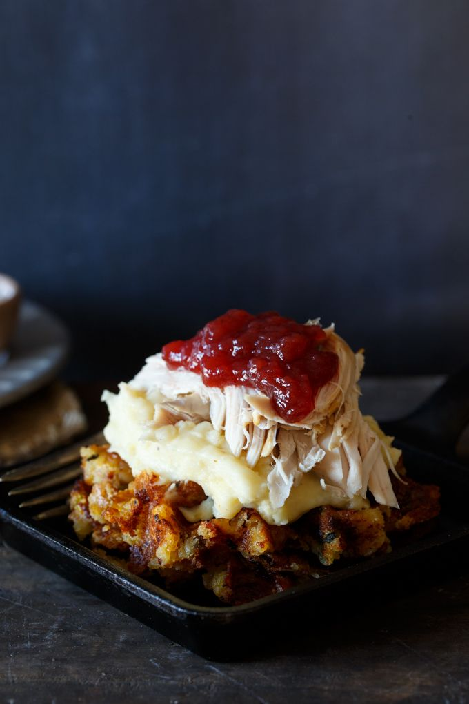 Leftover Thanksgiving recipes: Leftover Thanksgiving Stuffing Waffles at Shared Appetite