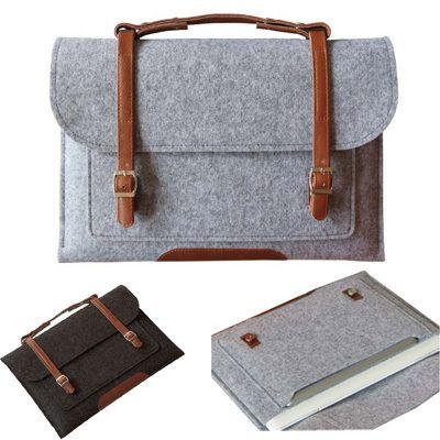 """Купить товарМода высокое качество чувствовал сумки 13.3 """" 15.4 """" портфель для Macbook Air Pro…"""
