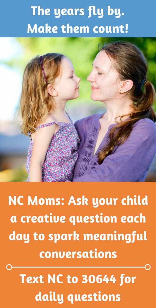Get surprising, funny, insightful answers from your kids when you ask them a creative question each day. It's free! Text NC to 30644 to sign up. By signing up, you agree to receive text messages from ParentsTogether Foundation and ParentsTogether Action that include Q4KIDZ questions and important info for families. Message and data rates may apply. Text STOP to end and HELP for help. U.S. only.