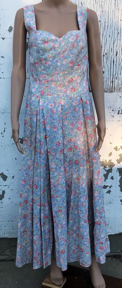 Vintage Laura Ashley Dress Floral Size 12 Perfect For Spring! | eBay