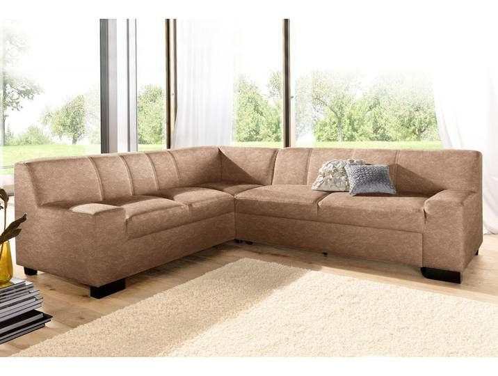 Domo Collection Eck Sofa Ohne Schlaffunktion Braun B H T