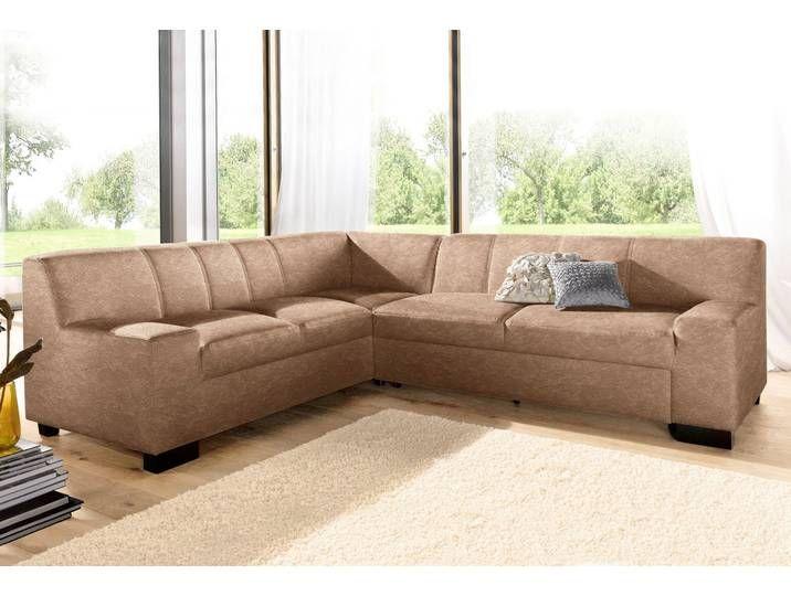 Domo Collection Eck Sofa Ohne Schlaffunktion Braun B H T