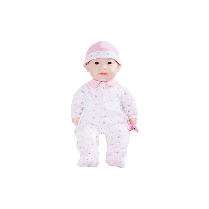 JC Toys La Baby 16 Washable Soft Body Asian Play Doll Designed by Berenguer - Pink