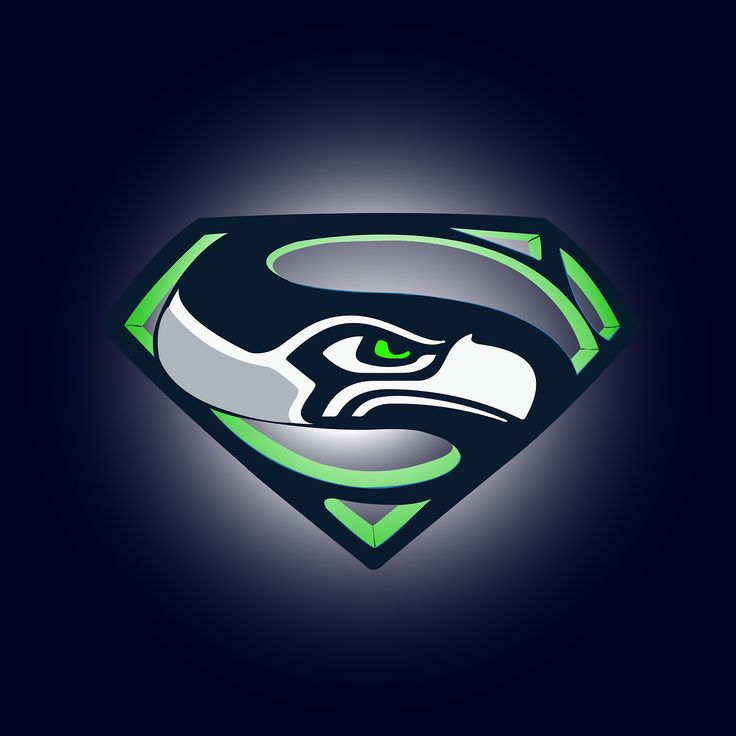 New Seahawks Logo | combined the seahawks logo with the superman logo since both logos