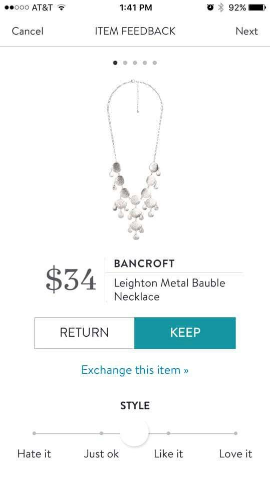 Stitch Fix Bancroft Leighton Metal Bauble Necklace