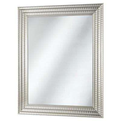 22 In X 27 In Framed Fog Free Wall Mirror In Silver Christmas