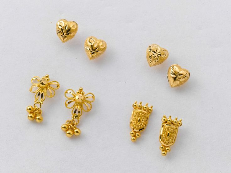 for stud item women gold earrings jwelry very earring real beautiful pure