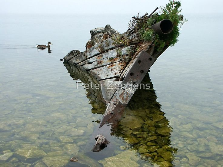 """""""Tobermory shipwreck"""" by Peter Zentjens 