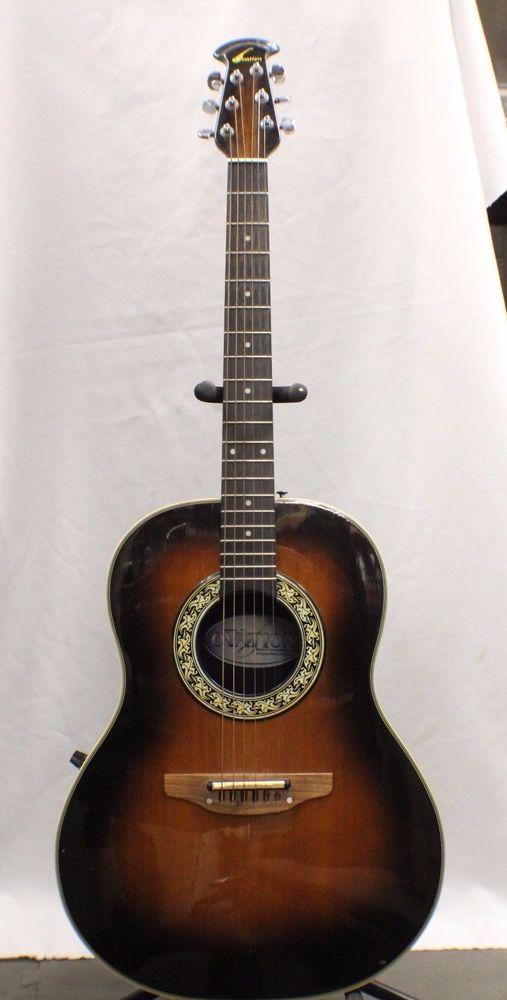 05ce441b6b Vintage Ovation Model 1621 Acoustic Electric Guitar - Tobacco Burst #Ovation