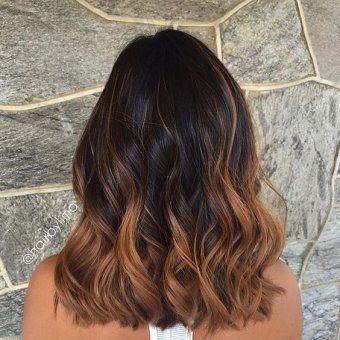 balayage ombre hair caramel