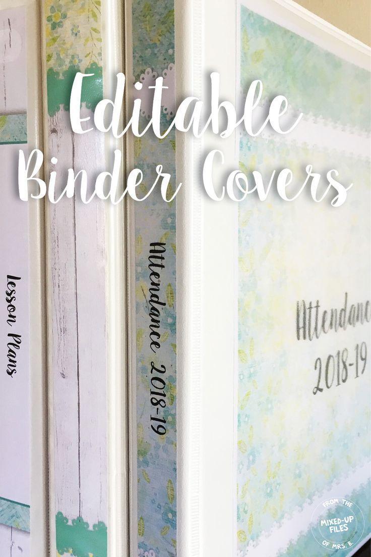 Farmhouse Editable Binder Covers Editable Binder Covers Binder