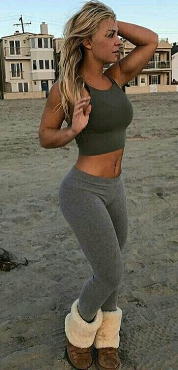 hot females with yoga pants topless