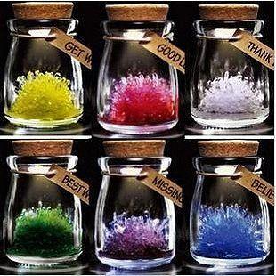 Growing crystals in a jar!