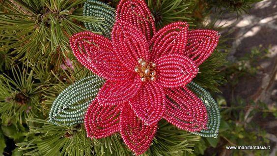 tutorial fiori di perline la stella di natale