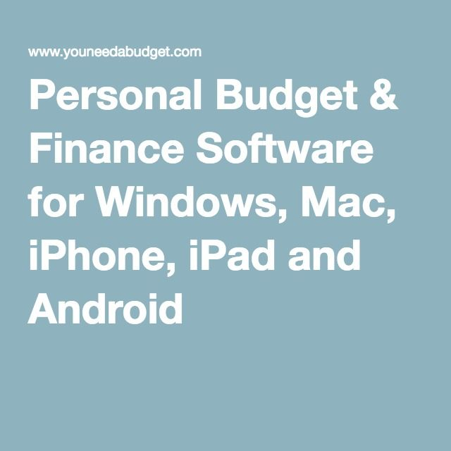 The  Best Personal Budget Software Ideas On   Budget