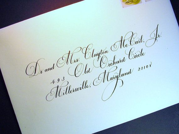 Hand Calligraphy Wedding Invitations | Hand Addressed Envelope. Calligraphy for Wedding Invitations & Special ...