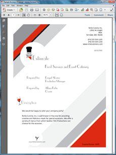 Sample proposal letter for event