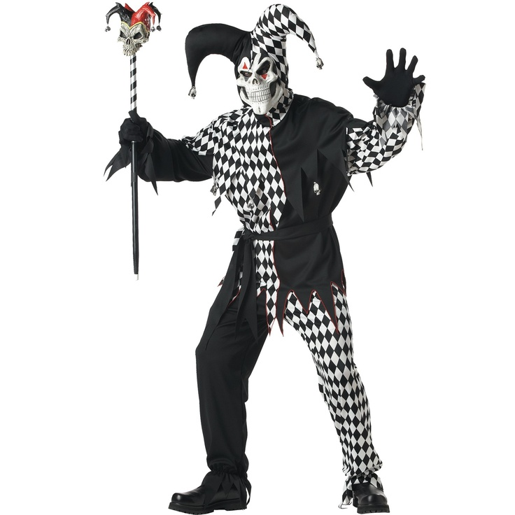 Jester Costume Evil Dark Jester Costume for Adults Wow i think this would make a fantastic Halloween Costume the evil jester is a great idea