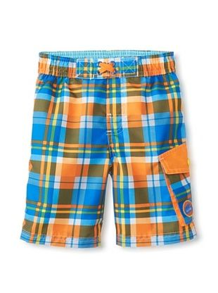 56% OFF Rugged Bear Baby-Boys Infant Plaid Short (Orange)