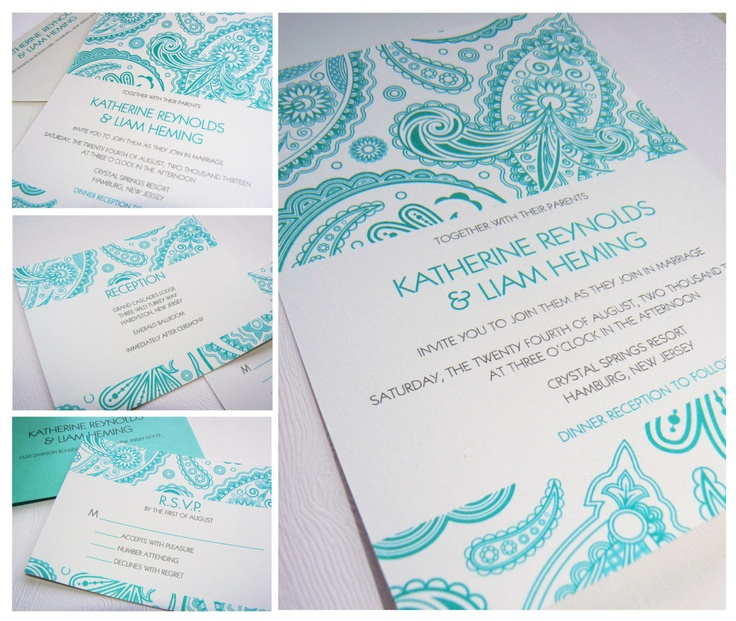 Bali Wedding Invitation Suite, Sample Purchase by Fanfare Designs - Free Shipping. $4.00, via Etsy.