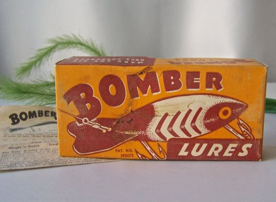 Fishing Lure Box Bomber Lures Bomber 411 Lure Box by CynthiasAttic