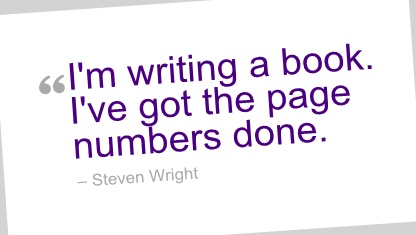 Writing Quote by Steven Wright.: Writing Quotes